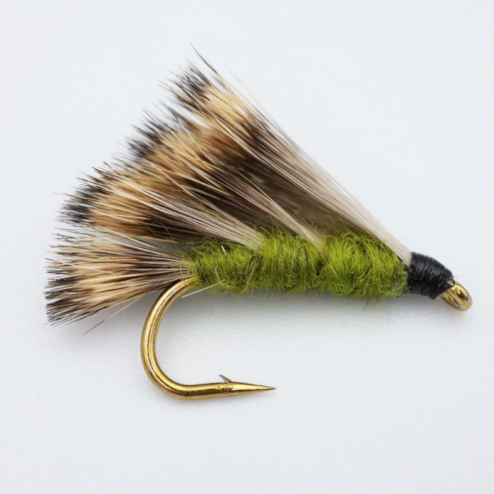 Olive Sedgehog Fishing Fly